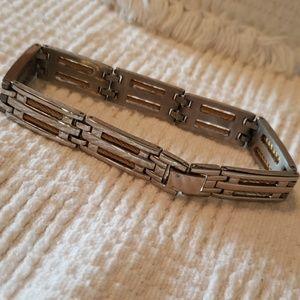 1913 STAINLESS STEEL MEN BRACELET 2 TONE